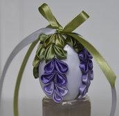 Uovo di Pasqua kanzashi glicine piccolo
