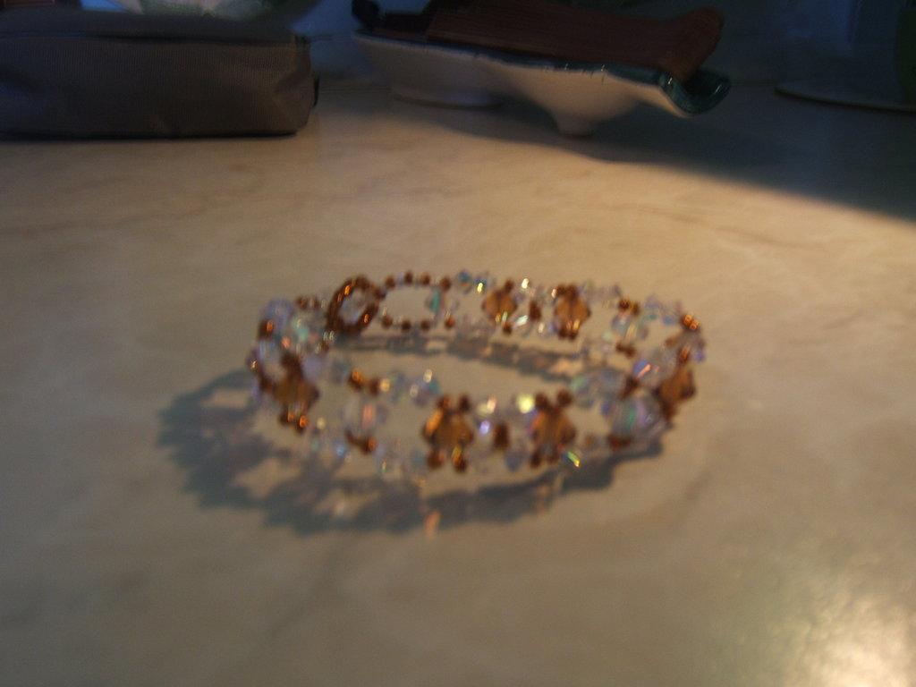 bracciale swarovski arancione