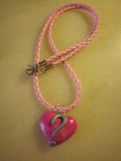 """Collana """"dillo col cuore"""" rosa ( ? )"""