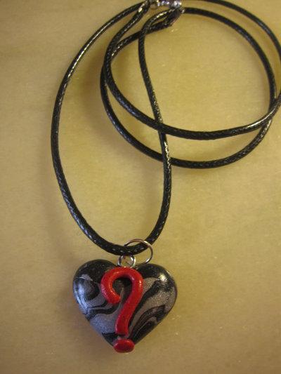 """Collana """"dillo col cuore"""" nero ( ? )"""