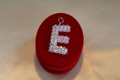 Lettera E  in cristallo swarovski
