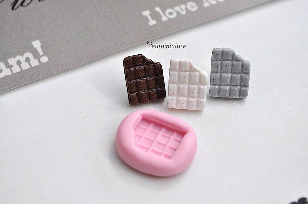 STAMPO CIOCCOLATO ST034 in silicone flessibile stampo dolci dollhouse fimo gioielli charms cabochon cibo in miniatura kawaii resina