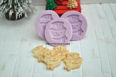 Stampo fimo natale - Biscotto pupazzo di neve natale 1 Stampi - gioielli charm 16mm stampo silicone flessibile kawaii ST069