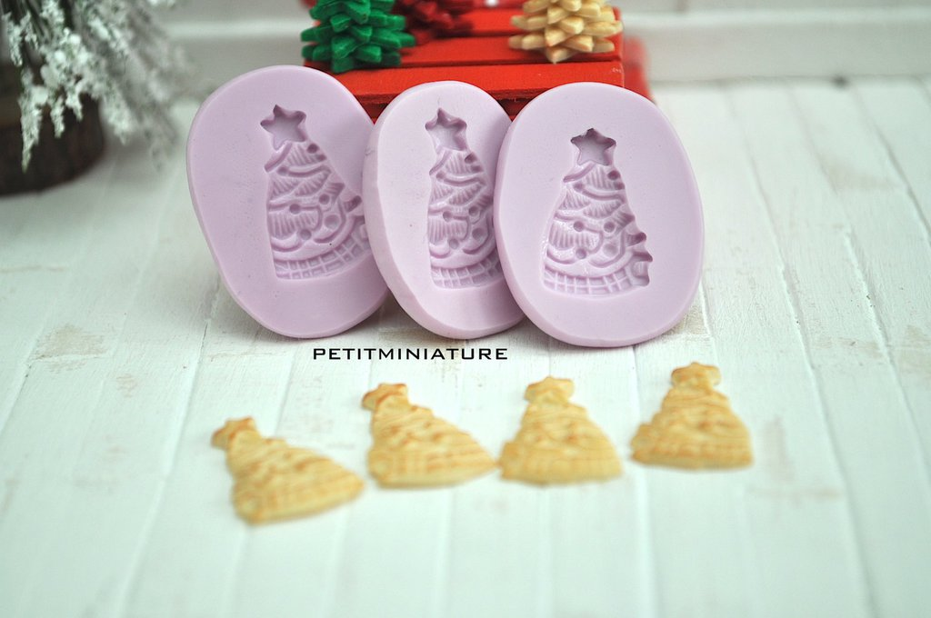 Stampo fimo natale - Biscotto pupazzo di neve natale 1 Stampi - gioielli charm 16mm stampo silicone flessibile kawaii ST070