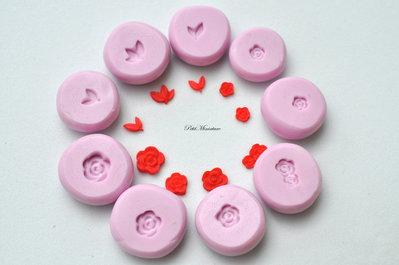 Stampo silicone flessibile fimo stampo dollhouse miniatura Miniature fiore rosa miniatura fimo gioielli kawaii scala 1:12 gioielli ST079