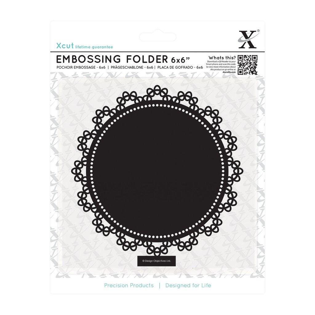 Fustella per embossing 15x15 cm - Lace Circle