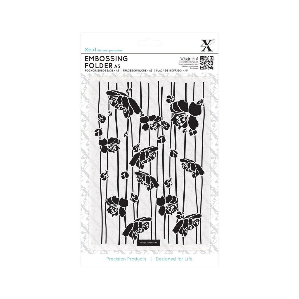 Fustella per embossing A5 - Blossom Stripes