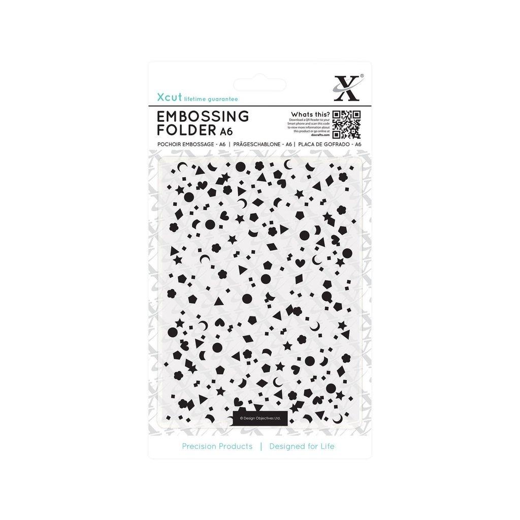 Fustella per embossing A6 - Mixed Confetti