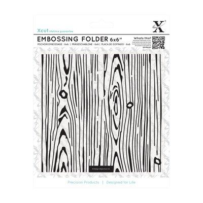 Fustella per embossing 15x15 cm - Woodgrain