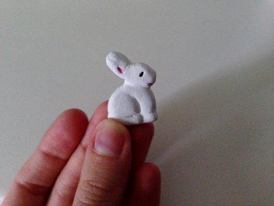 Coniglietto pasquale bianco