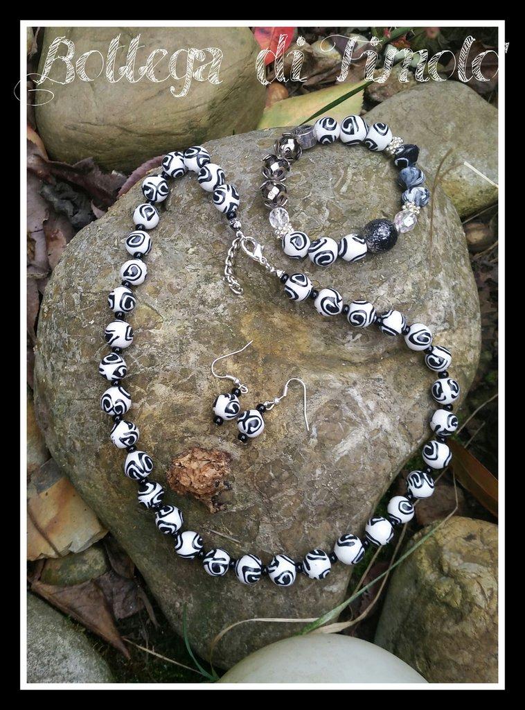 set collana bracciale e orecchini in perle murrine