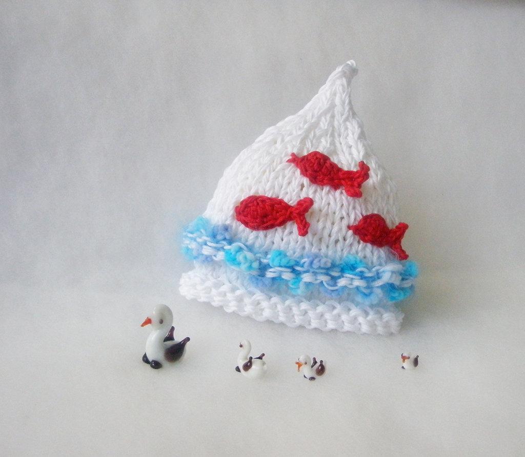 Cappellino cotone per neonati / Accessori neonati / Cappellino Fatto a mano / Cappellino estivo per bambini