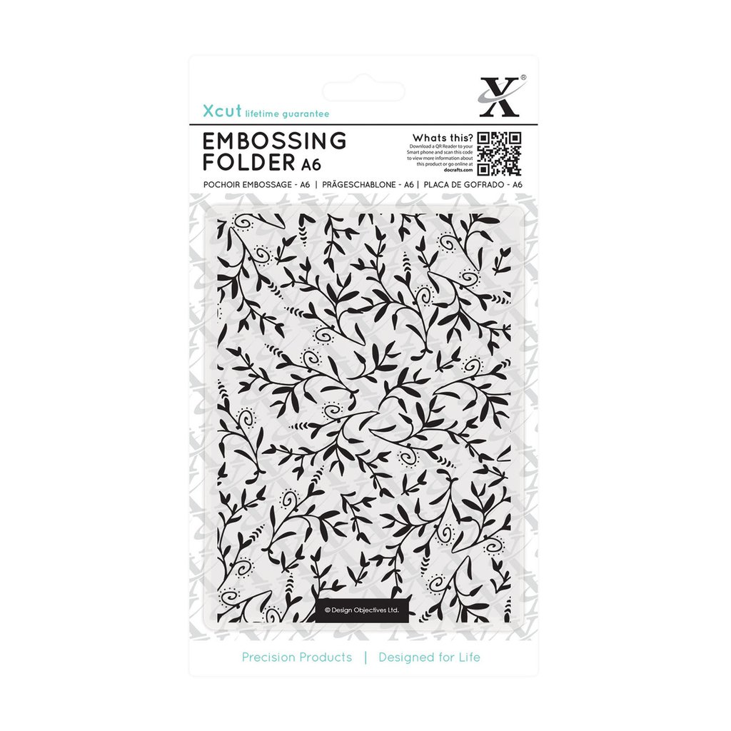 Fustella per embossing A6 - Foliage Pattern