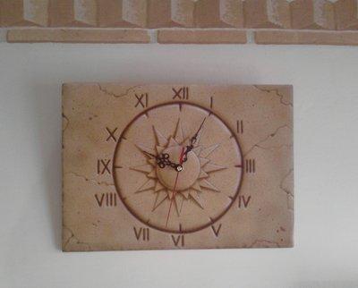 """""""Sole"""":Orologio da parete aerografato"""