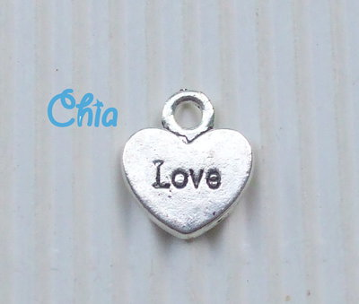 10 charms cuore love