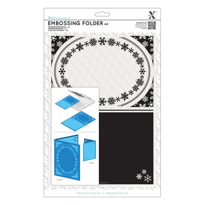 Fustella per embossing A4 - Snowflake Frame