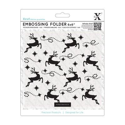 Fustella per embossing 15x15 cm - Reindeers Pattern
