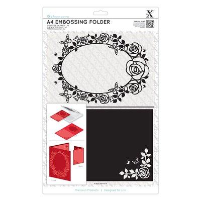 Fustella per embossing A4 - Rose Frame