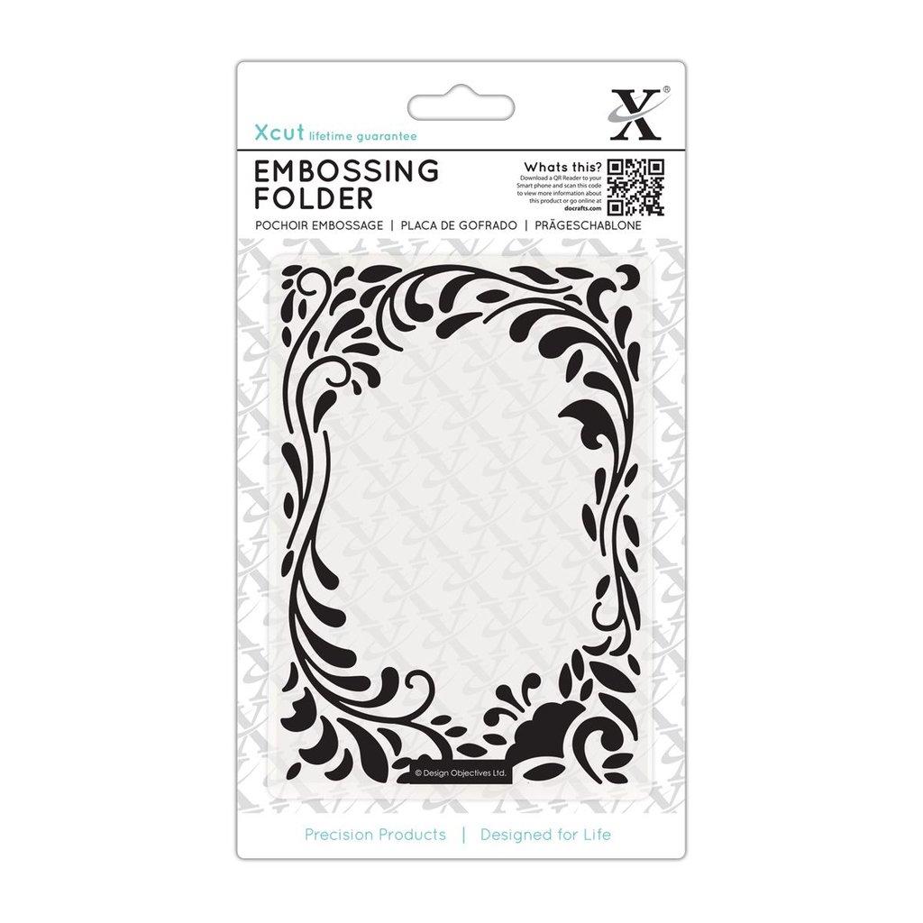 Fustella per embossing A6 - Floral Curls