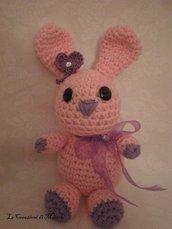 coniglietto rosa amigurumi