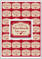 "100 etichette ""handmade for you"" 4x5cm"