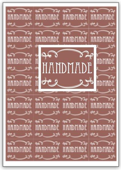 "100 etichette ""handmade"" 4x5cm"
