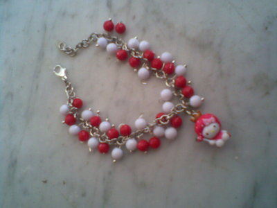Bracciale HELLO KITTY fragolina con perline