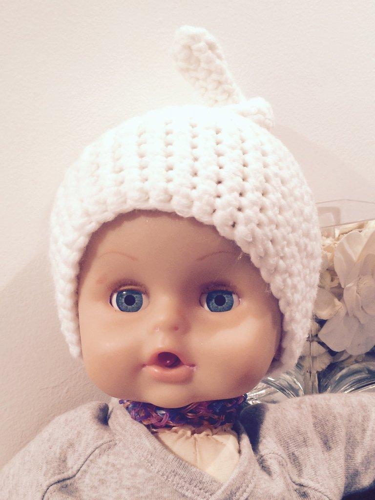 Cuffia neonato nodo