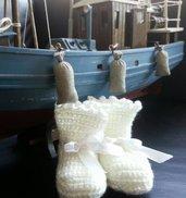 Scarpine neonato in lana unisex modello unico