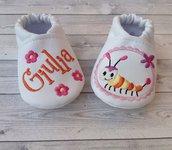 Scarpine in ecopelle personalizzate con nome - Bambina 3-6 mesi