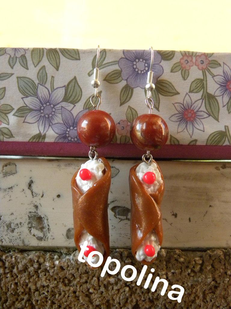 orecchini cannoli siciliani