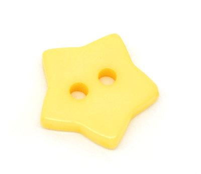 Set 10 bottoni - Stelle gialle