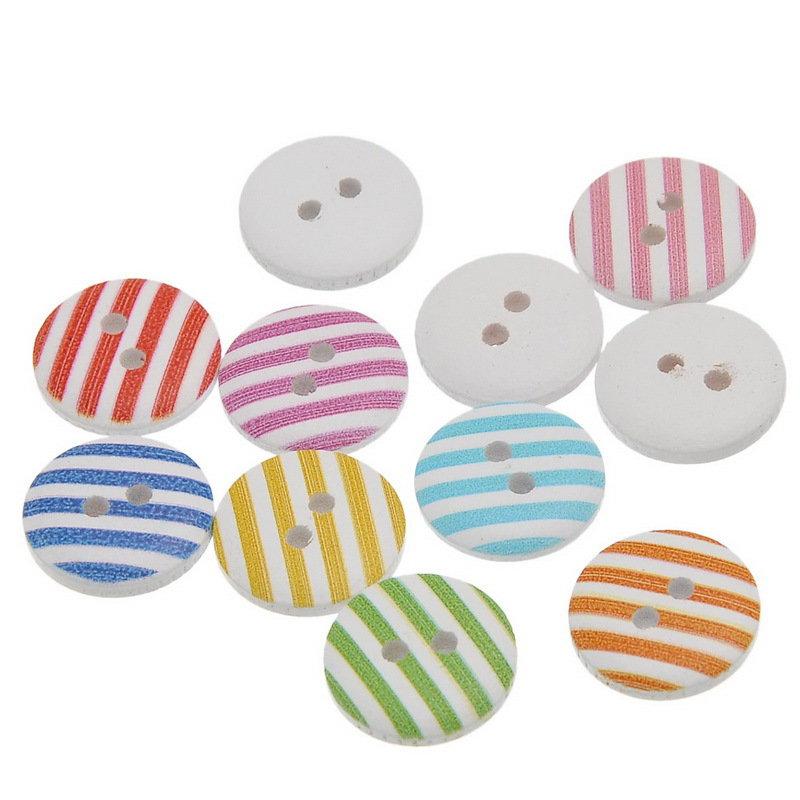 Mix 10 bottoni - Strisce