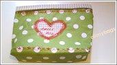 Cestino beauty di stoffa portaoggetti per bagno e camera handmade♥