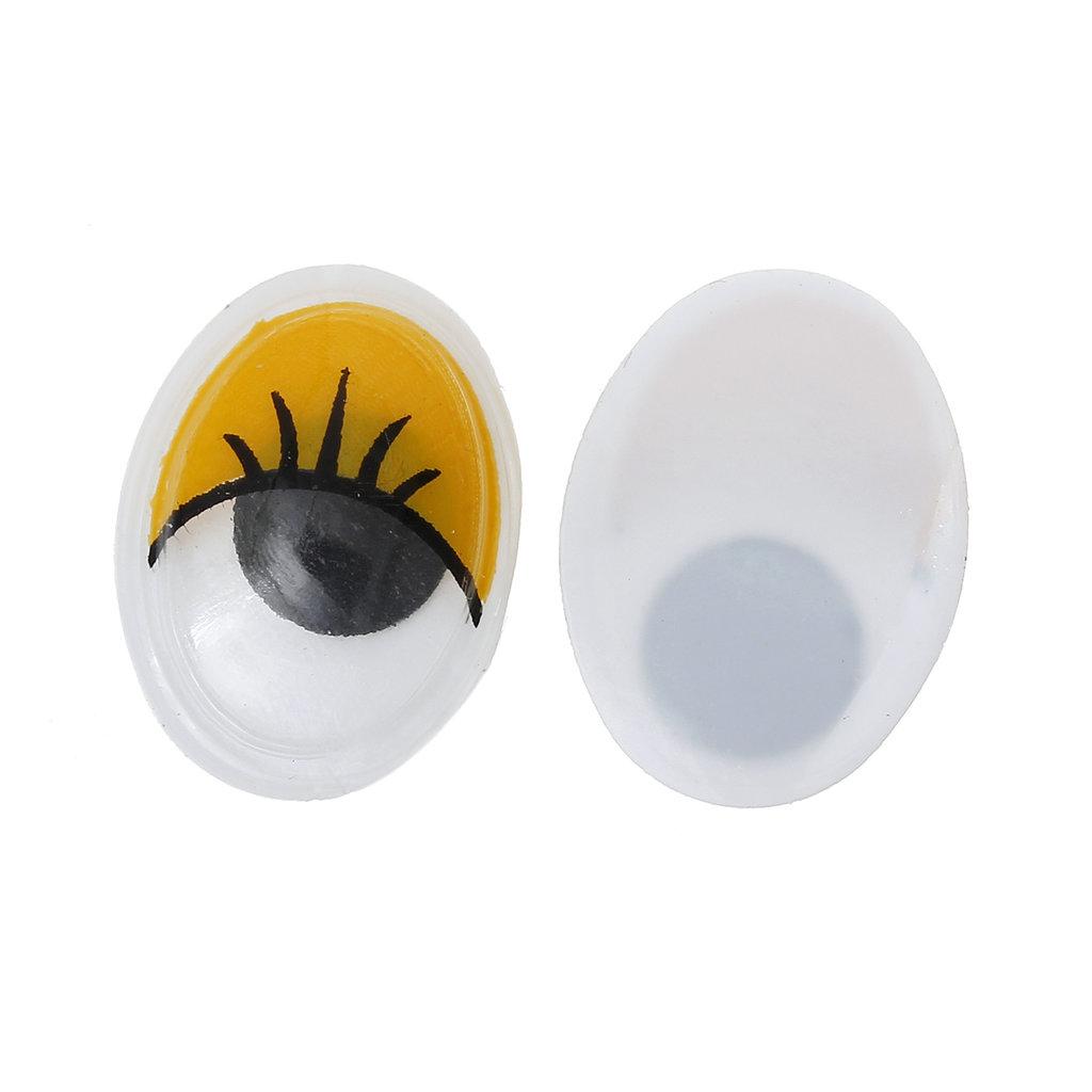 Set 20 occhi mobili ovali - 12x17 mm