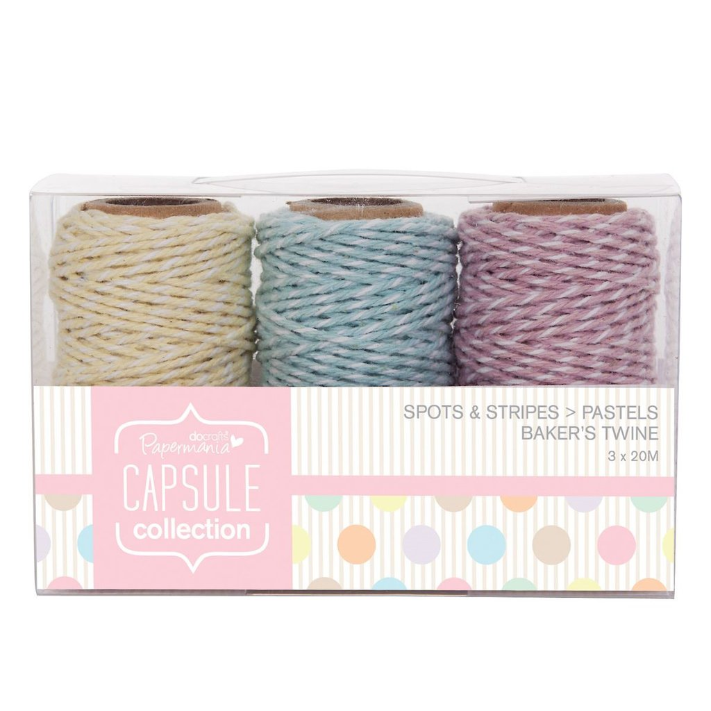 Bakers Twine - Spots & Stripes Pastels