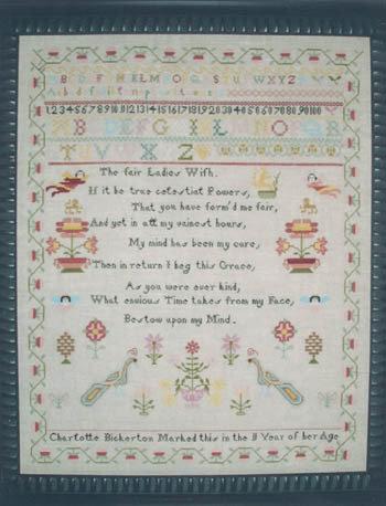 Charlotte Bickerton Sampler - Schema Sampler Punto Croce - Hawkins House