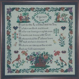 C. Garnett Sampler 1847 - Schema Sampler Punto Croce - Hawkins House