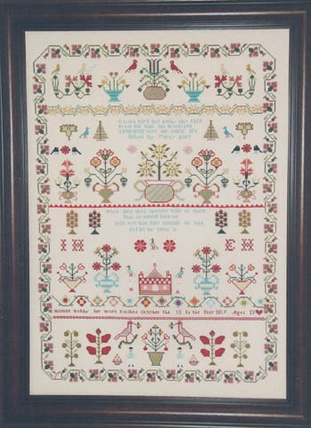 Hannah Holtby 1819 - Riproduzione Sampler Punto Croce - Hawkins House