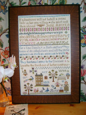 A Travel With Jane Austen - Sampler Punto Croce - The Sampler Girl