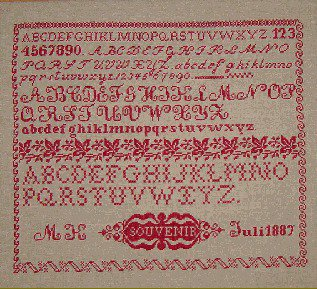 Sampler Souvenir - Riproduzione Sampler Punto Croce - Kunst & Vliegwerk