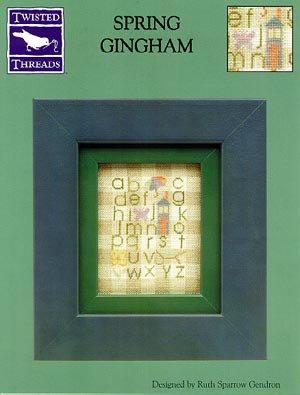 Spring Gingham - Schema Punto Croce - Alfabeto di Primavera - Twisted Thread