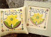 Doubles Bloom - Doppio Schema Punto Croce e Appliqué - Samsarah Design