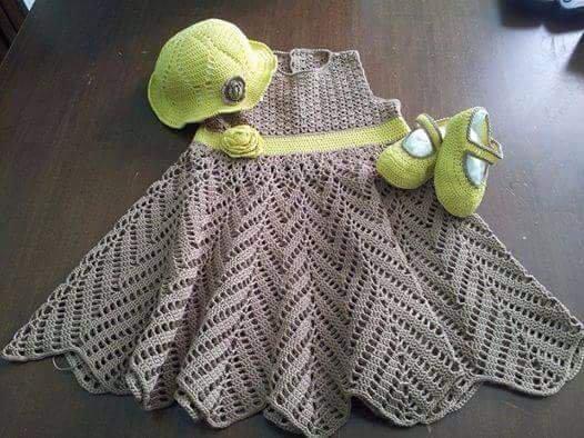 Completo Bimba Uncinetto Bambini Abbigliamento Di Creazioni Y