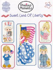 Sweet Land Of Liberty - Precious Moments - Design by Gloria & Pat