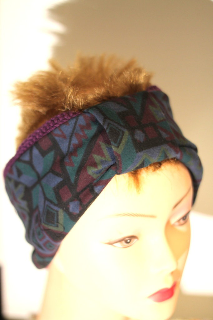 fascia per capelli doubleface