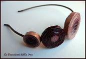 """Cerchietto """"spirali di carta"""" rosa e ciliegia"""
