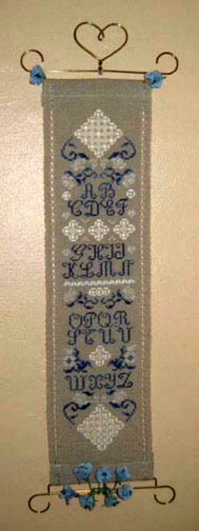 Bonnière Bleue - Schema Alfabeto Hardanger e Punto Croce - Isabelle Vautier