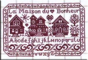 La Maison Du Bonheur - Schema Alfabeto Casette Punto Croce - Isabelle Vautier