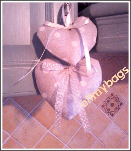 Cuori decorativi country da appendere di stoffa handmade♥